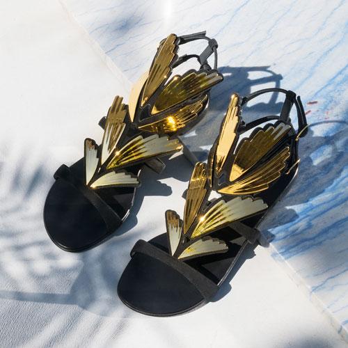 "Giuseppe Zanotti Women's Flat Sandals ""2.0 Cruel"""