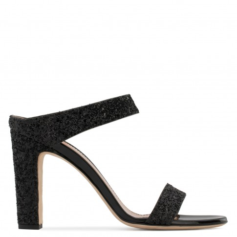 Giuseppe Zanotti Sandals ALIZÉE Black Glitter Women's Shoes