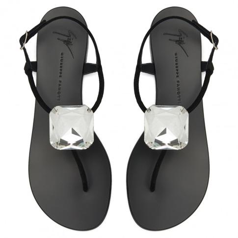 "Giuseppe Zanotti Flat Sandals ""Hollie Big Diamond"""
