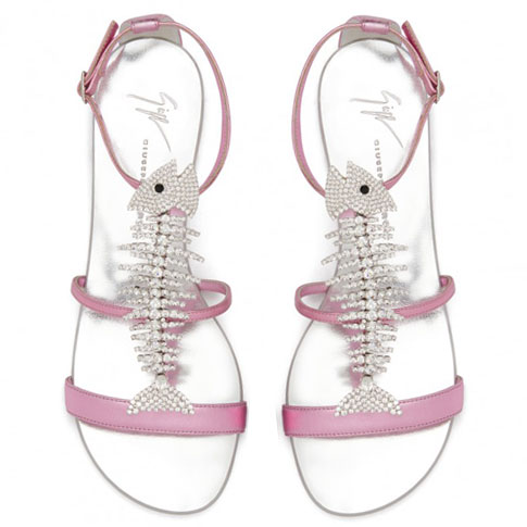 "Giuseppe Zanotti Flat Sandals ""Slim"""
