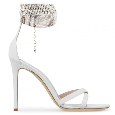 "Giuseppe Zanotti Sandals ""White Janell"""