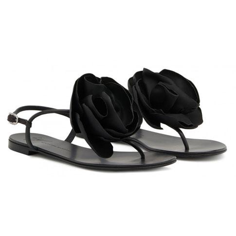 """Giuseppe Zanotti Flat Sandals """"Peony"""""""