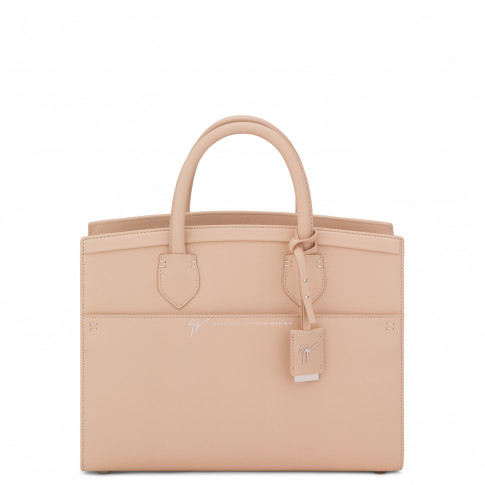 Giuseppe Zanotti Bags - ANGELINA - Nude Calfskin Leather Women's Handbag