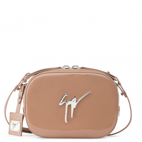 Giuseppe Zanotti Clutches - ODETTE - Pink Patent Leather Women's Shoulder Bag