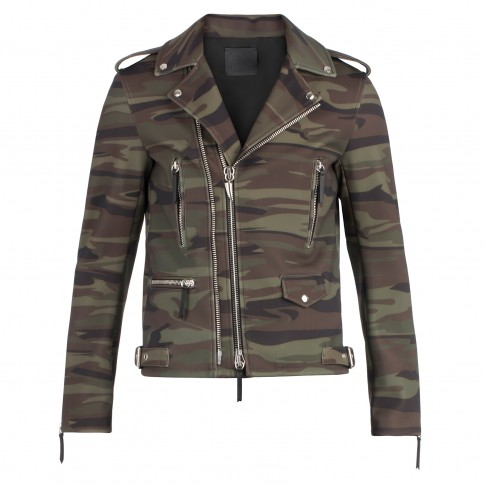 ee7435cabce74 Giuseppe Zanotti Men KIAN Camouflage Motorcycle Jacket ...
