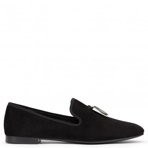 Giuseppe Zanotti Loafers SHARK Black Suede Men's Shoes