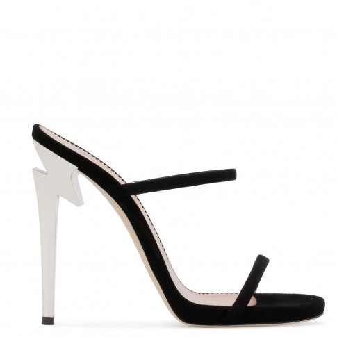 "Giuseppe Zanotti Women's Sandals ""G-HEEL"" Black Mule"