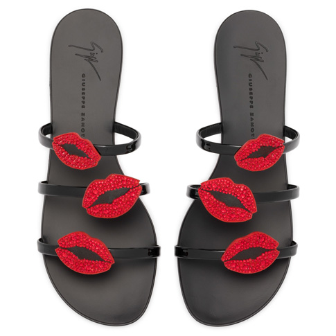 "Giuseppe Zanotti Women's Sandals ""ANYA BOUCHE"" Flats"