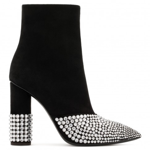 """Giuseppe Zanotti Women's Boots """"RAINA"""" Crystal Heel"""