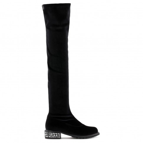 "Giuseppe Zanotti Boots ""CAROLE"" Black Thigh High"