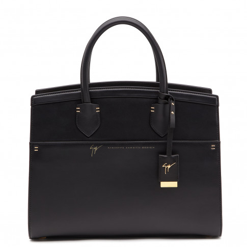 Giuseppe Zanotti Totes - ANGELINA - Women's Black Leather Bag