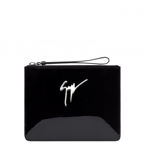 Giuseppe Zanotti Clutches MARGERY Black Patent Bag