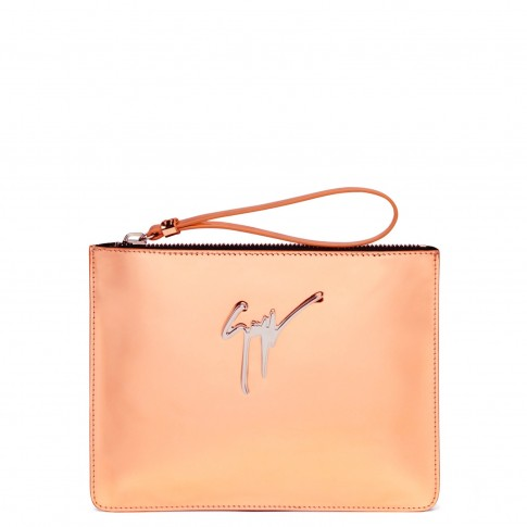 Giuseppe Zanotti Clutches MARGERY Mirrored Rose Gold Bag