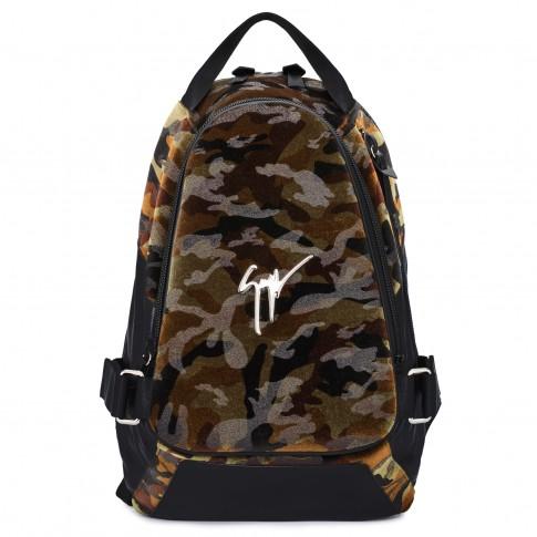 """Giuseppe Zanotti Men's Backpack """"MACK"""" Camouflage"""
