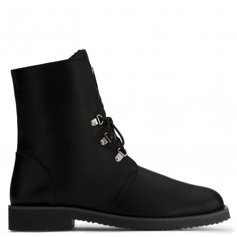 Giuseppe Zanotti Boots FORTUNE Black Biker Men's Shoes