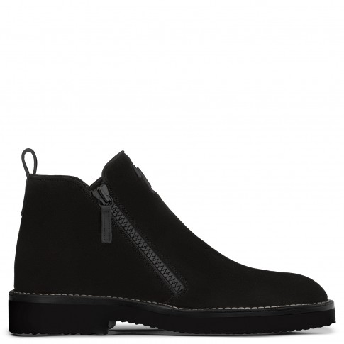 Giuseppe Zanotti Boots AUSTIN Black Suede Men's Shoes