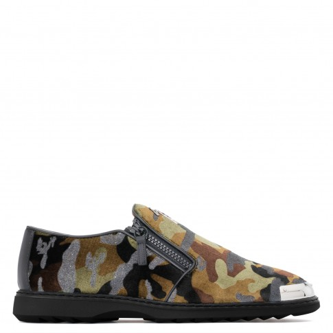 "Giuseppe Zanotti Men's Loafers ""COOPER"" Camouflage Shoes"