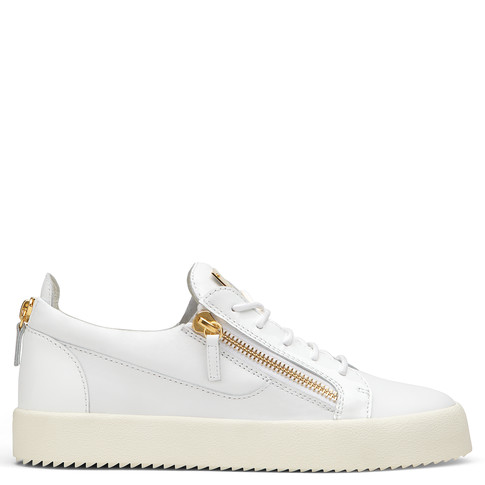 Giuseppe Zanotti Low Tops - FRANKIE - Men's White Sneakers