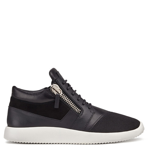 Giuseppe Zanotti Mid Tops - RUNNER - Men's Black Sneakers