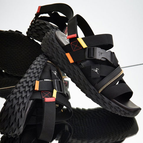 "Giuseppe Zanotti Sneakers Sandals ""Black Urchin"""