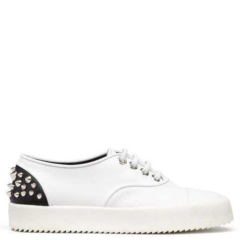 Giuseppe Zanotti Low Tops - REBECCA - Women's White Leather Sneakers