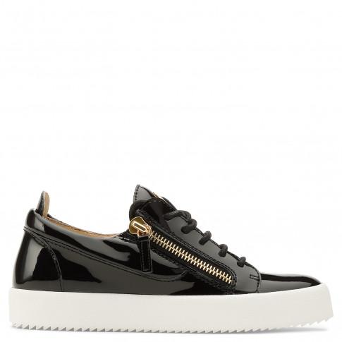 Giuseppe Zanotti Low-Tops - NICKI - Black Patent Leather Women's Sneaker