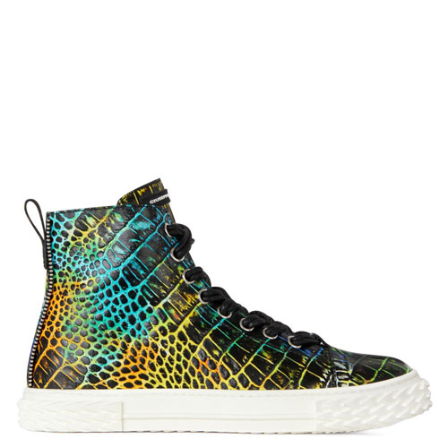 "Giuseppe Zanotti Sneakers ""Men's Crocodile-Print High Top Blabber"""
