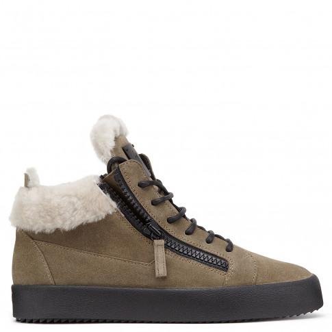 Giuseppe Zanotti Sneakers KRISS Beige Suede Men's Mid Tops