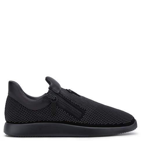 Giuseppe Zanotti Low Tops - RUNNER SUEDE - Men's Black Sneakers