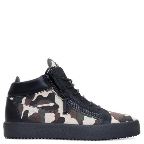 Giuseppe Zanotti Mid Tops - KRISS - Men's Light Camouflage Sneakers