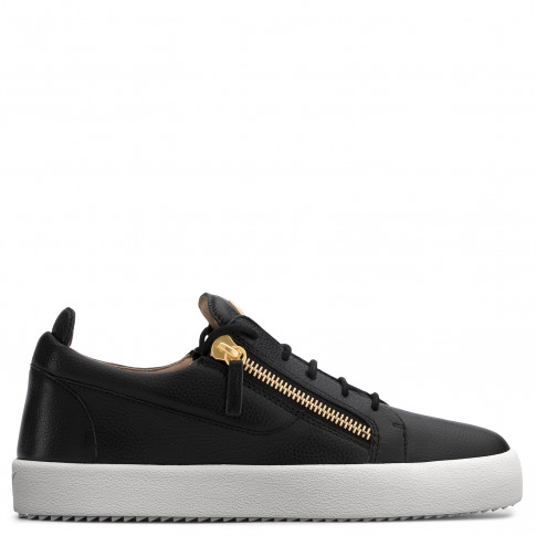 Giuseppe Zanotti - FRANKIE - Black Nappa Leather Men's Sneakers