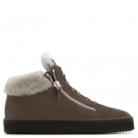 Giuseppe Zanotti Sneakers KRISS Brown Calf Suede Men's Mid-Tops