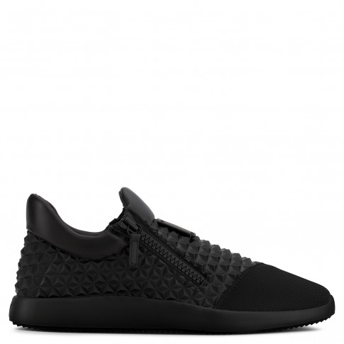 Giuseppe Zanotti - RUNNER STUDS - Black printed leather Men's sneaker