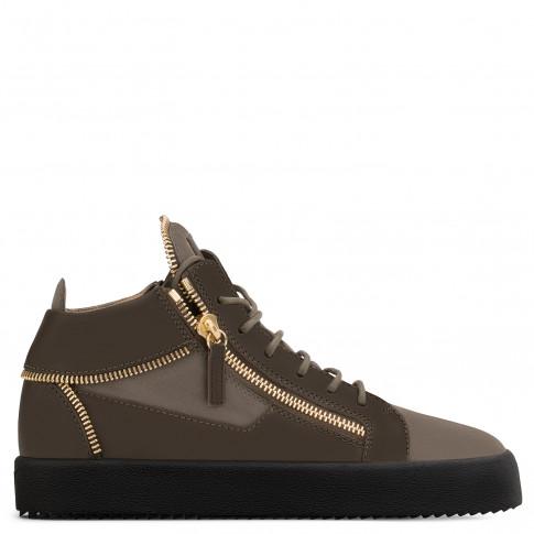 Giuseppe Zanotti - KIRK - Green Suede Men's Mid-Top Sneakers