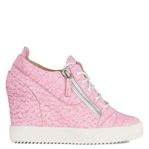 "Giuseppe Zanotti Women's Sneakers ""Pink Addy Wedge"""