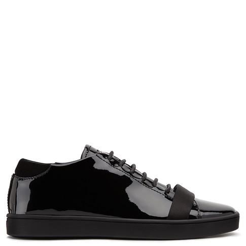 Giuseppe Zanotti Low Tops - MATTHEW - Patent Leather - Women's Black Sneakers