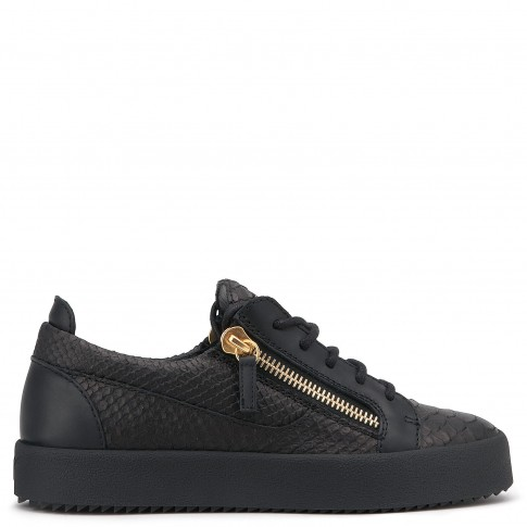 "Giuseppe Zanotti Sneakers ""Nicki"" Women's Black Python Low Tops"
