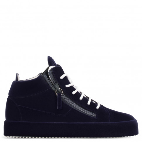 Giuseppe Zanotti - THE UNFINISHED - Dark Blue Mid-Top Women's Sneaker