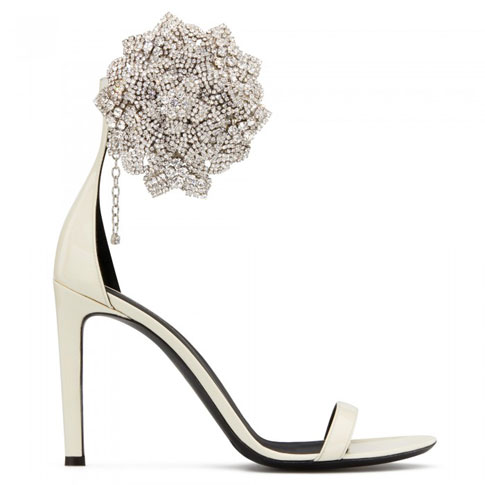 "Giuseppe Zanotti Women's Sandals ""White Fleur"""