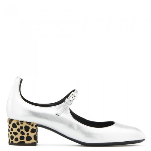 Giuseppe Zanotti - HEIDI FELINE - Silver Leather Women's Shoes