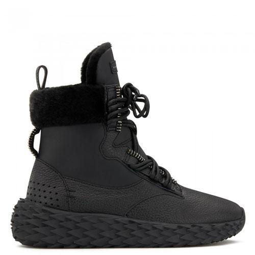 Giuseppe Zanotti - URCHIN - Black High-Top Women's Suede Sneakers