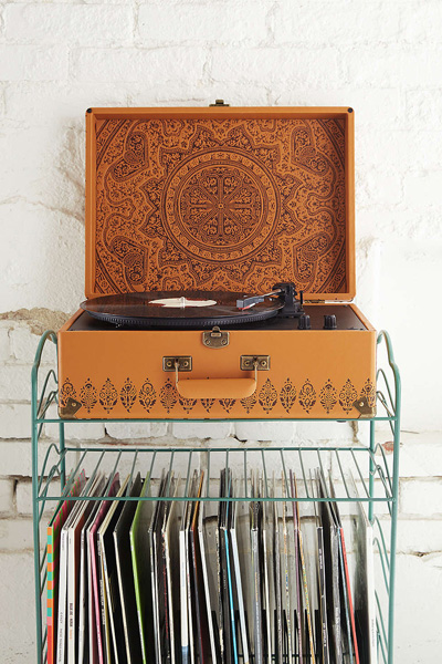 "Crosley Portable USB Turntable ""Embossed Keepsake"""