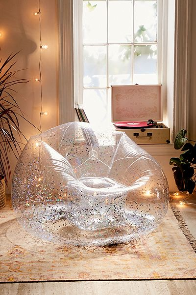 "Clear Inflatable Bubble Chair ""Trixie"""