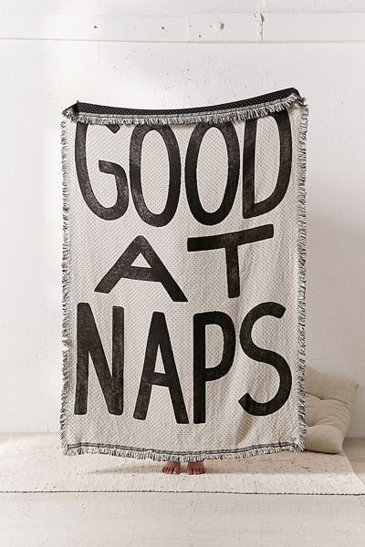 Good at naps woven throw blanket for Good home decor sites