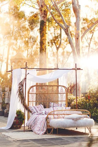"""Bohemian Rattan Bed """"Ara"""""""