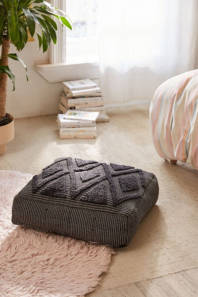 Lua Textured Boho Floor Pillow