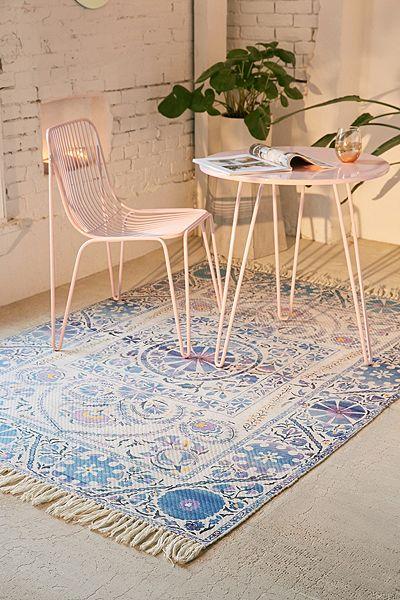 """Bohemian Indoor/Outdoor Printed Rug """"Zellie"""" Boho Decor"""