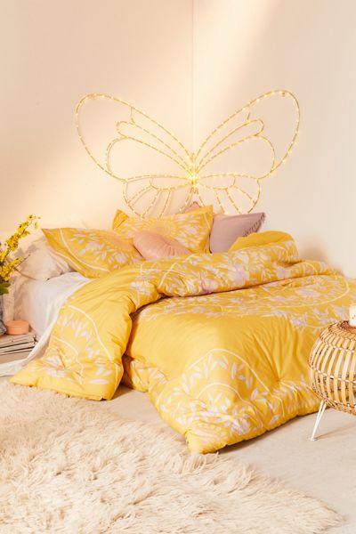 """Medallion Bedding Set """"Iris Sketched Floral"""""""