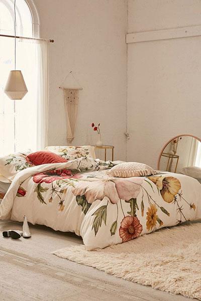 "Wildflower Bouquet Duvet Cover ""Boho Bedding"""