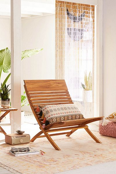 "Lounge Wooden Folding Chair ""Bianca"""